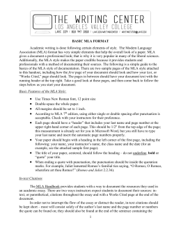 mla 7th edition format