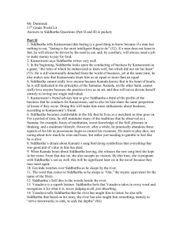 siddharthas journey by hesse essay Essay period 4 12-4-95 english 2 honors siddhartha's journey there are two parts  siddhartha's journey essay,  in the book siddhartha by hermann hesse.