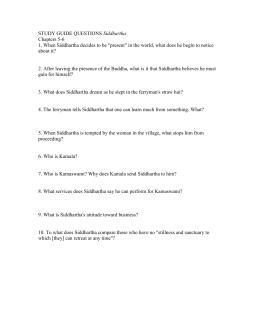 study guide questions answer key siddhartha rh studylib net Timothy Ministry Study Guide Questions Anthem Study Guide Questions