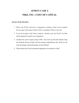 case study determining the cost of capital oceanic corporation The firm's wacc is the cost of capital for the firm's mixture of debt and stock in their capital structure wacc = wd (cost of debt) + ws (cost of stock/re) + wp (cost of pf stock) so now we need to calculate these to find the wacc.