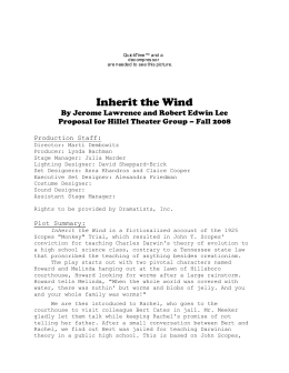 inherit the wind study notes Monkeynotes study guide summary-inherit the wind by jerome lawrence & robert e lee -free book notes/chapter summary.