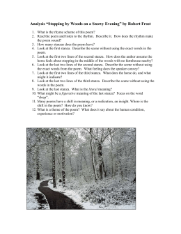 "Analysis ""Stopping by Woods on a Snowy Evening"" by Robert Frost"