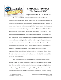 big business in the gilded age essay Big business in the gilded age essay 20th century, dubbed the gilded age by writer mark twain, was a time of great growth and change in every aspect of the united states, and even more so for big business.