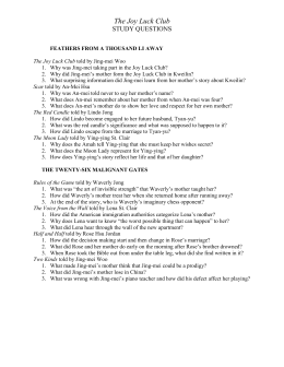 the joy luck club study guide questions doc