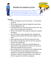 Reminders for empathetic writing