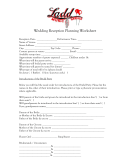 Wedding Reception Planner And Dj Contract