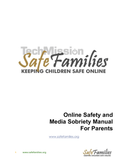 Online Safety Manual for Parents and Families