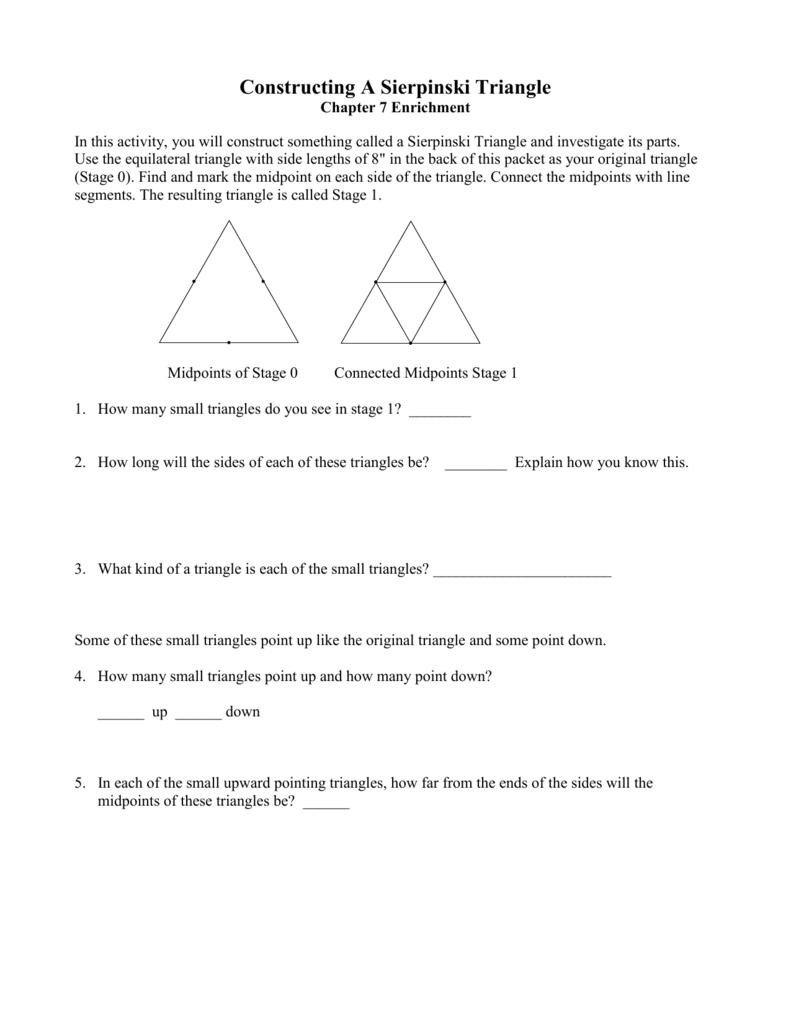 Worksheets Sierpinski Triangle Worksheet constructing sierpinski triangles