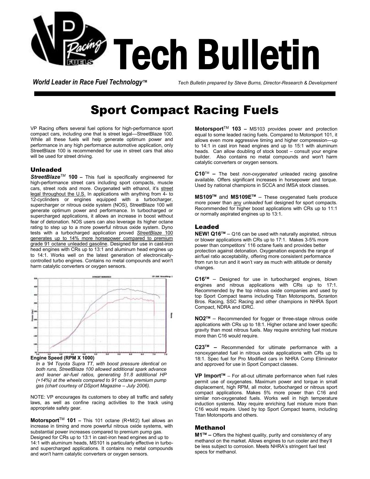 TechBulletin-Sportfuels doc