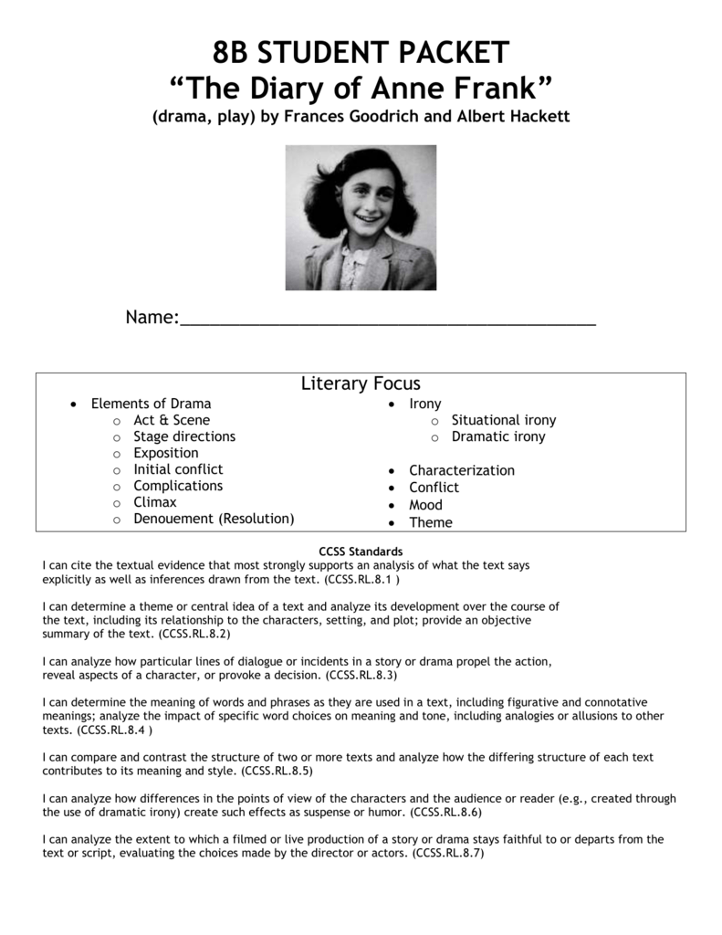 compare and contrast anne frank and bruno