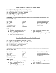 Study Guide for A Christmas Carol Test (80 points)