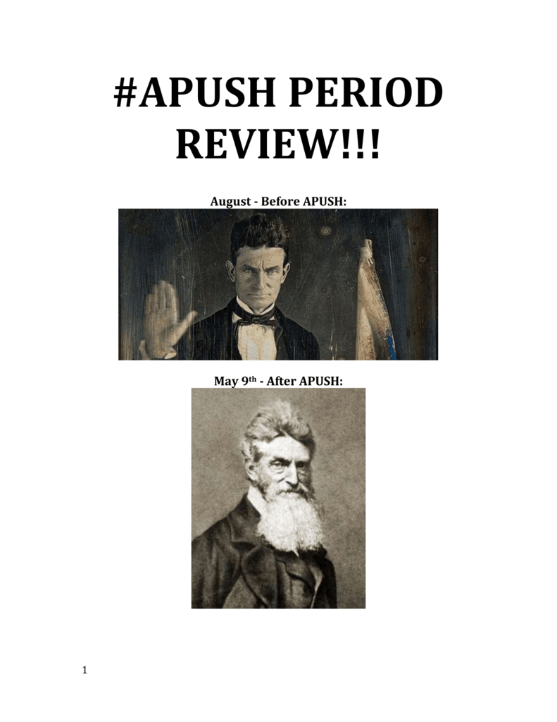 APUSH PERIOD 1-9 Study Guide doc