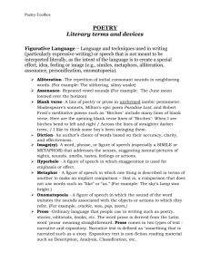 Printable- Poetry Literary Terms & Devices