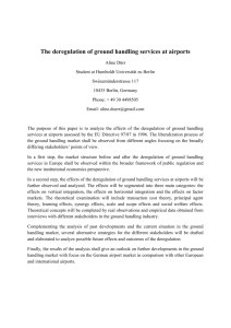 The deregulation of ground handling services at airports