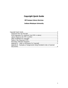 Copyright Quick Guide - Off Campus Library Services (OCLS)