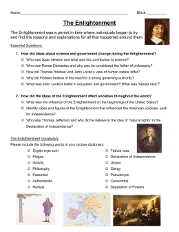The Enlightenment Essential Questions