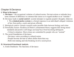 Chapter 8-Deviance