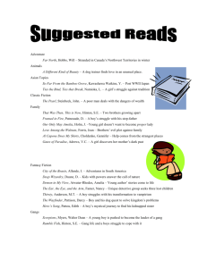 Mr. K`s Suggested Book List