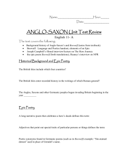 Anglo-Saxon Unit Test Review.doc