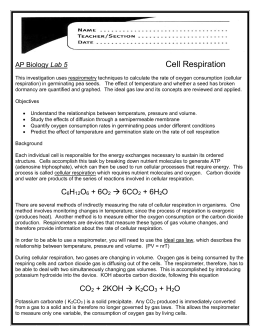 ap biology cell respiration lab Lab 5 introduction: cellular respiration cellular respiration is an atp-producing catabolic process in which the ultimate electron acceptor is an inorganic molecule, such as oxygen.