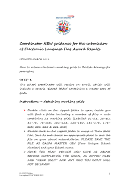 Guidelines for Flag Award submissions