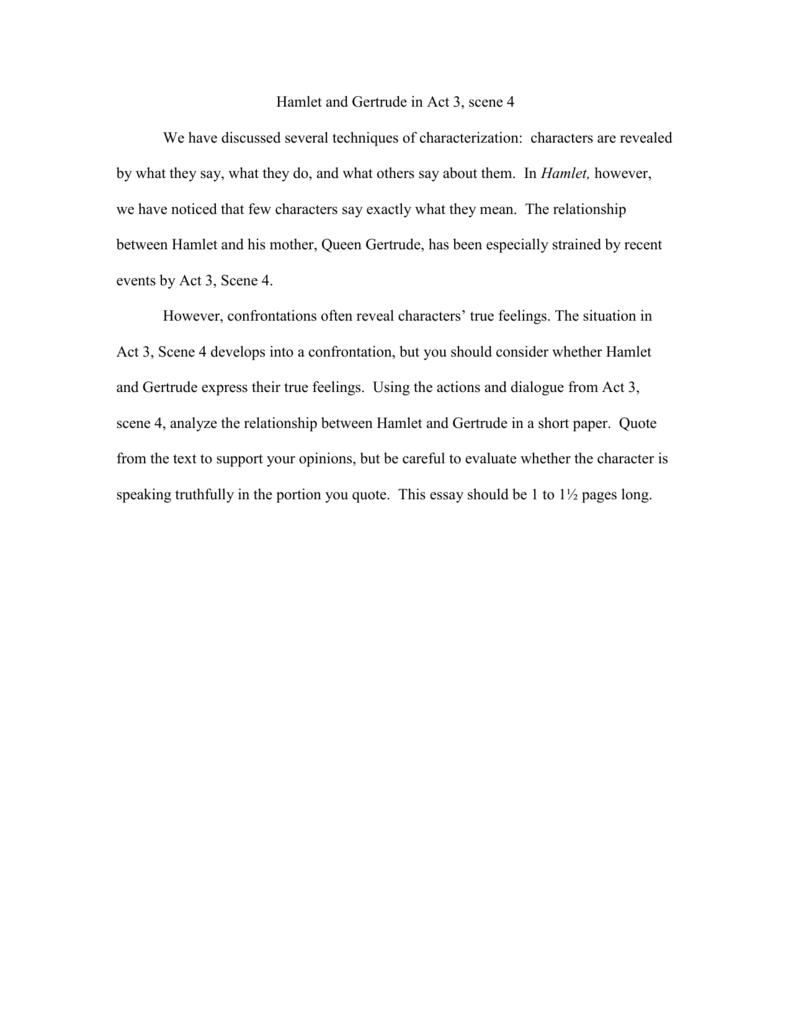 essays on queen gertrude