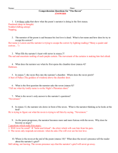 the raven multiple choice test questions