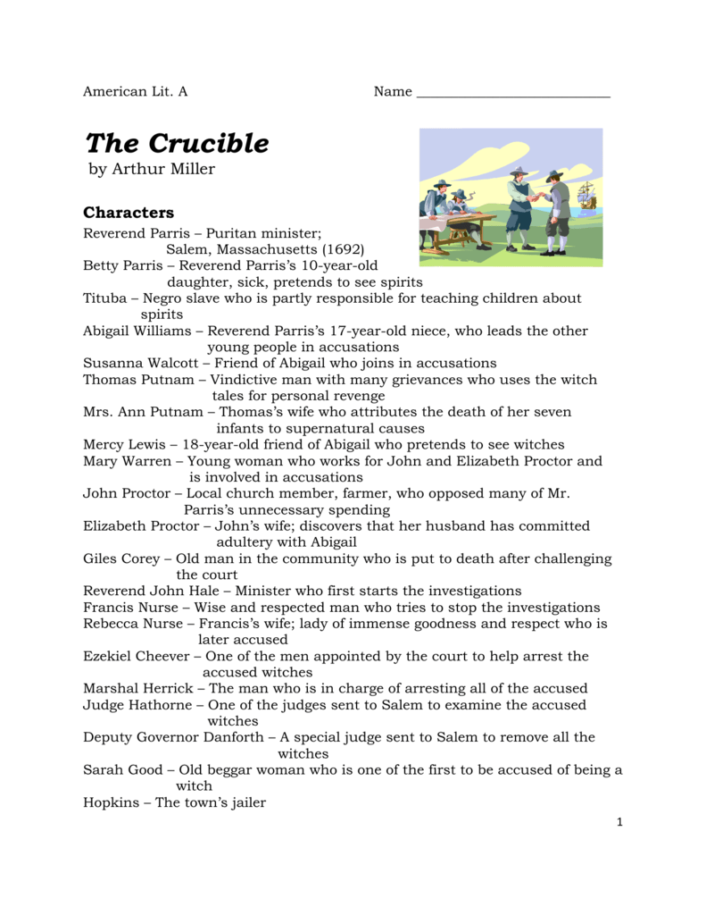 a personal evaluation of the crucible a play by arthur miller