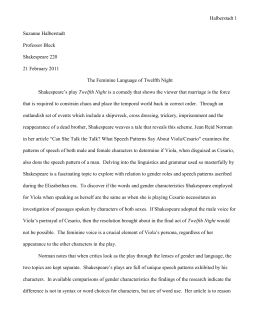 twelfth night acts and act scene line  twelfth night essay edited doc