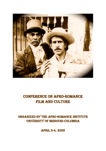 Conference Program - Afro-Romance Institute
