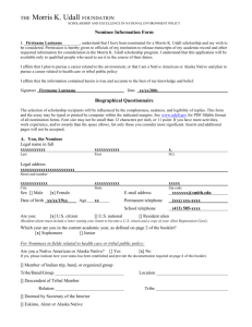Nominee Information Form