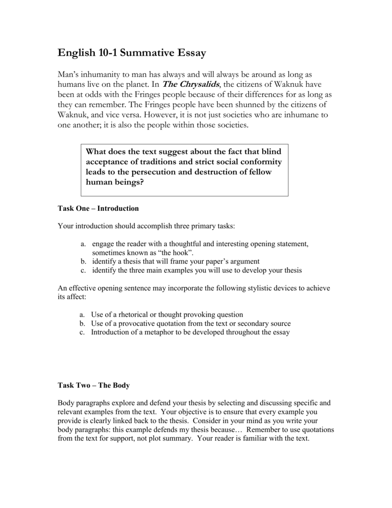 thesis statement biographical essay The thesis statement is the most crucial the goal of any thesis-based paper is to make a a five paragraph essay should only have a thesis statement that is.