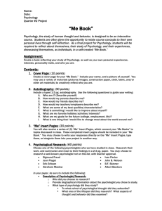 "Psychology - ""Me Book"" Project"
