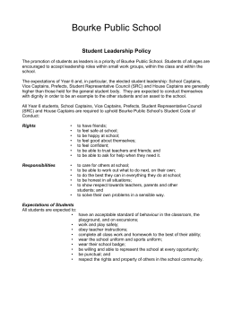 Student leadership policy