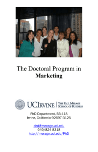 PhD Marketing pamphlet.doc - The Paul Merage School of Business