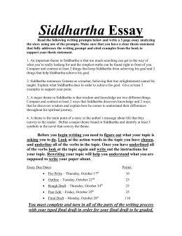 siddhartha questions for group discussion