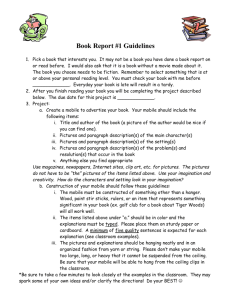 Book Report #1 Guidelines