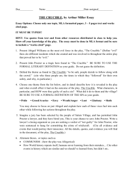 the crucible in class essay topics tj the crucible essays doc