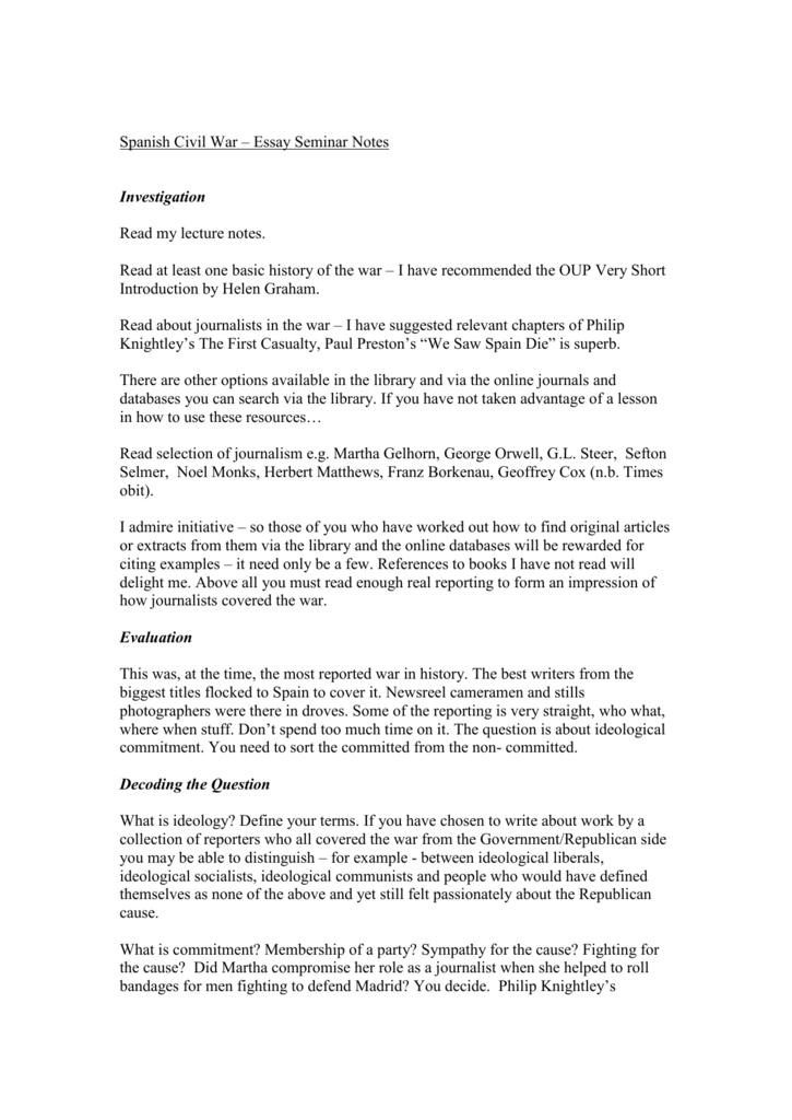 short essay on spain