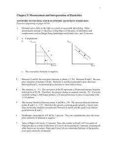 Chapter 4: Consumer Equilibrium and Market Demand