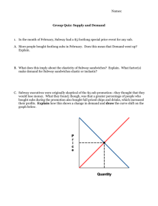 Supply and Demand Group Quiz