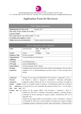 Application Form for Reviewer