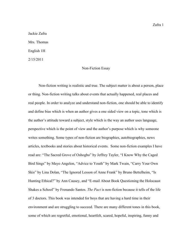 non fiction essay doc jackiezafrawritingfolder