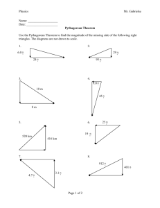 pythagorean theorem.doc - Mr. Gabrielse`s Physics Class