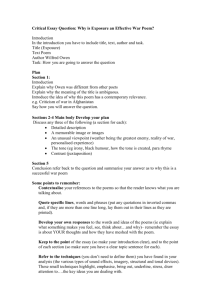 Exposure Essay Plan.doc