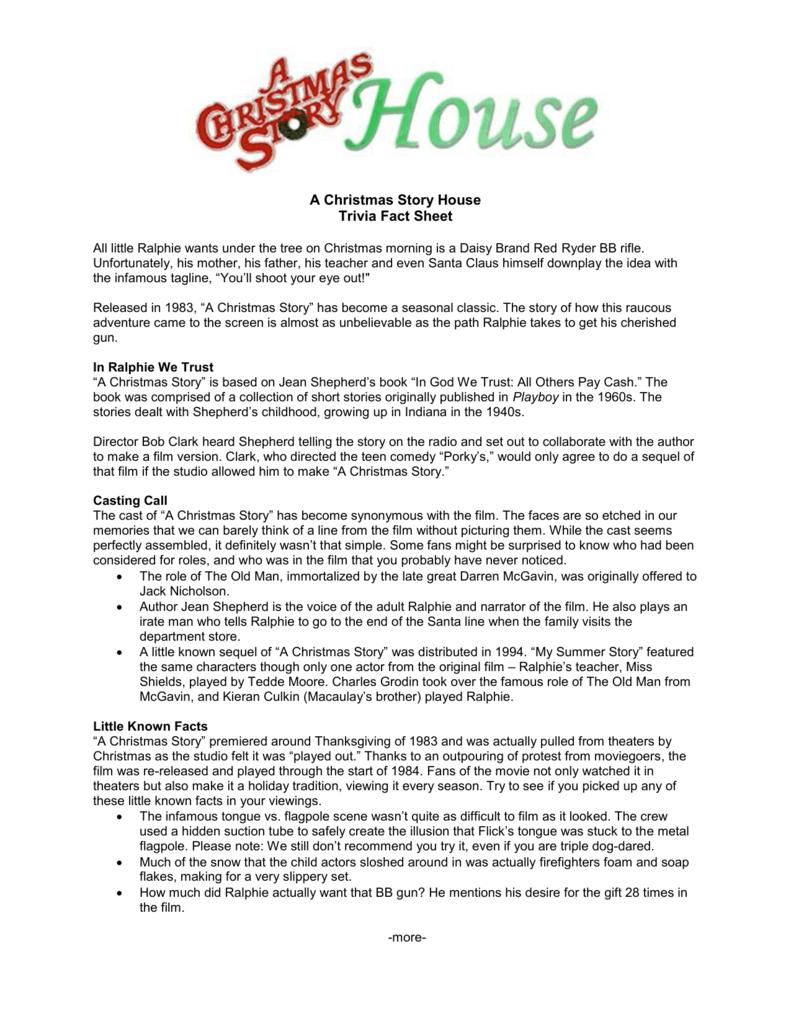 A Christmas Story Sequel.A Christmas Story House