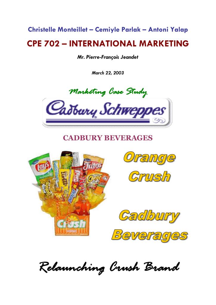 cadbury beverages inc crush brand case analysis