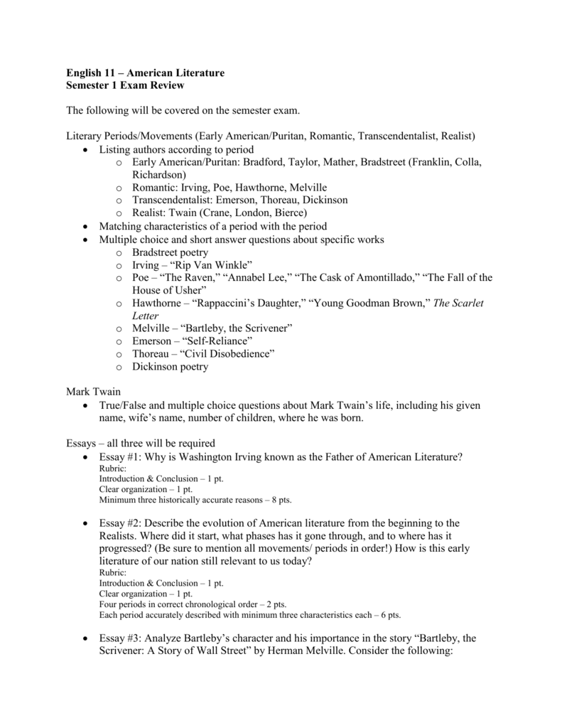 american literary essays This section outlines the assignments for the course including essays and presentation work.