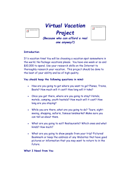 Virtual Vacation Project Overview.doc