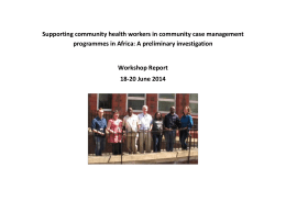 "Amuda`s Report on ""Community Health Workers in Africa"